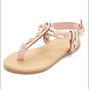 Other - Toddler girls size 7 Pink and gold studded sandals